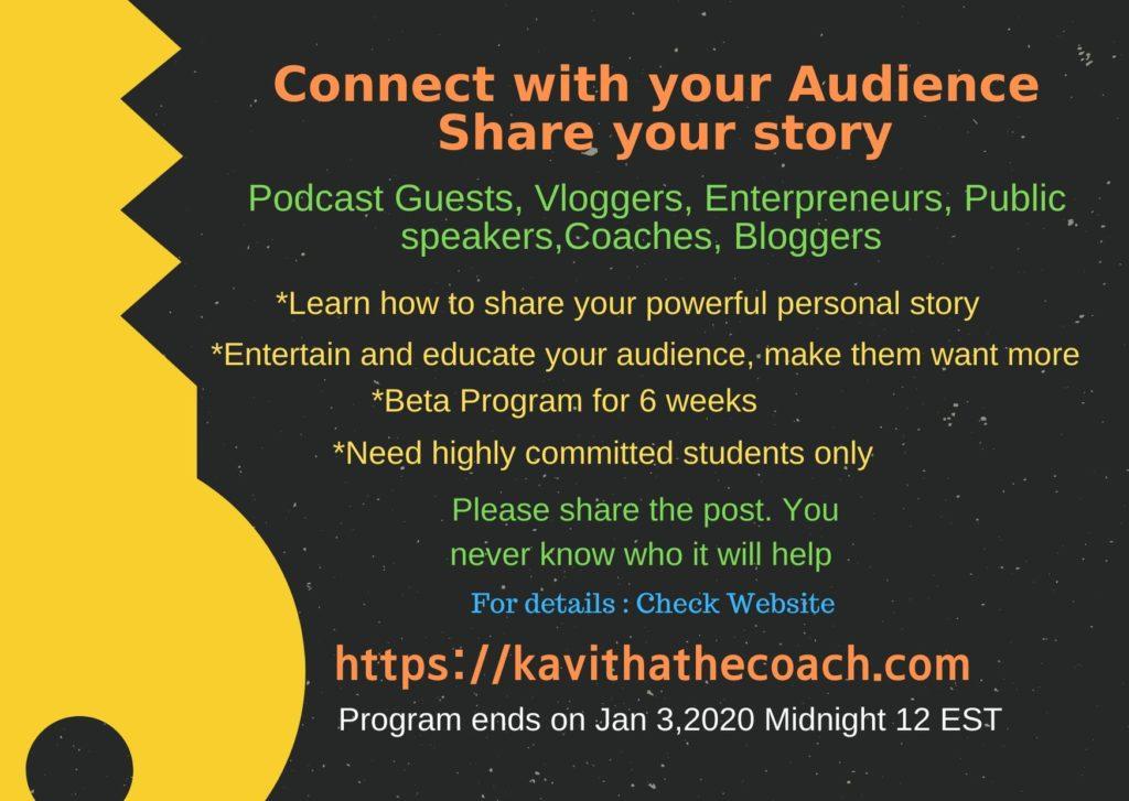 Beta program kavitha the coach dot com
